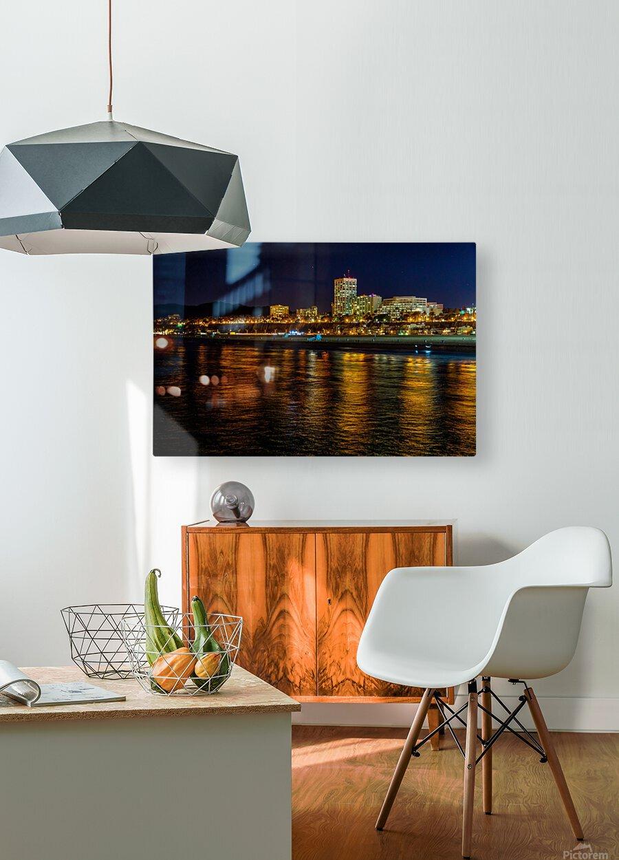 Santa Monica Skyline  HD Metal print with Floating Frame on Back
