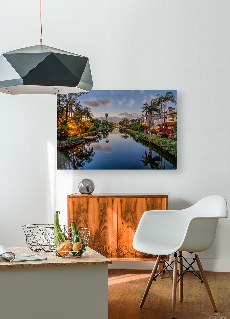 Venice Canal At Twilight  HD Metal print with Floating Frame on Back