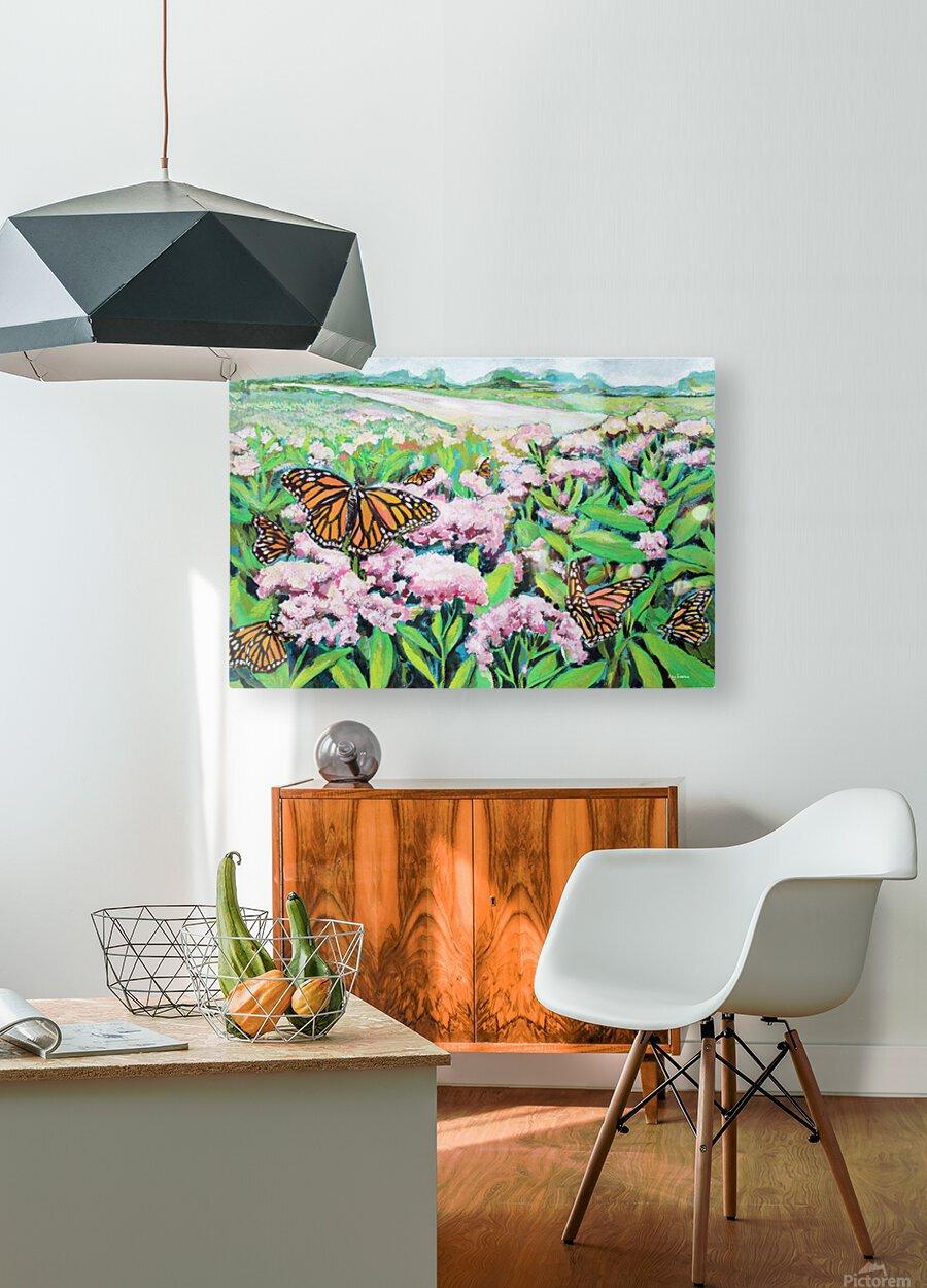 CountyMonrachButterflies  HD Metal print with Floating Frame on Back