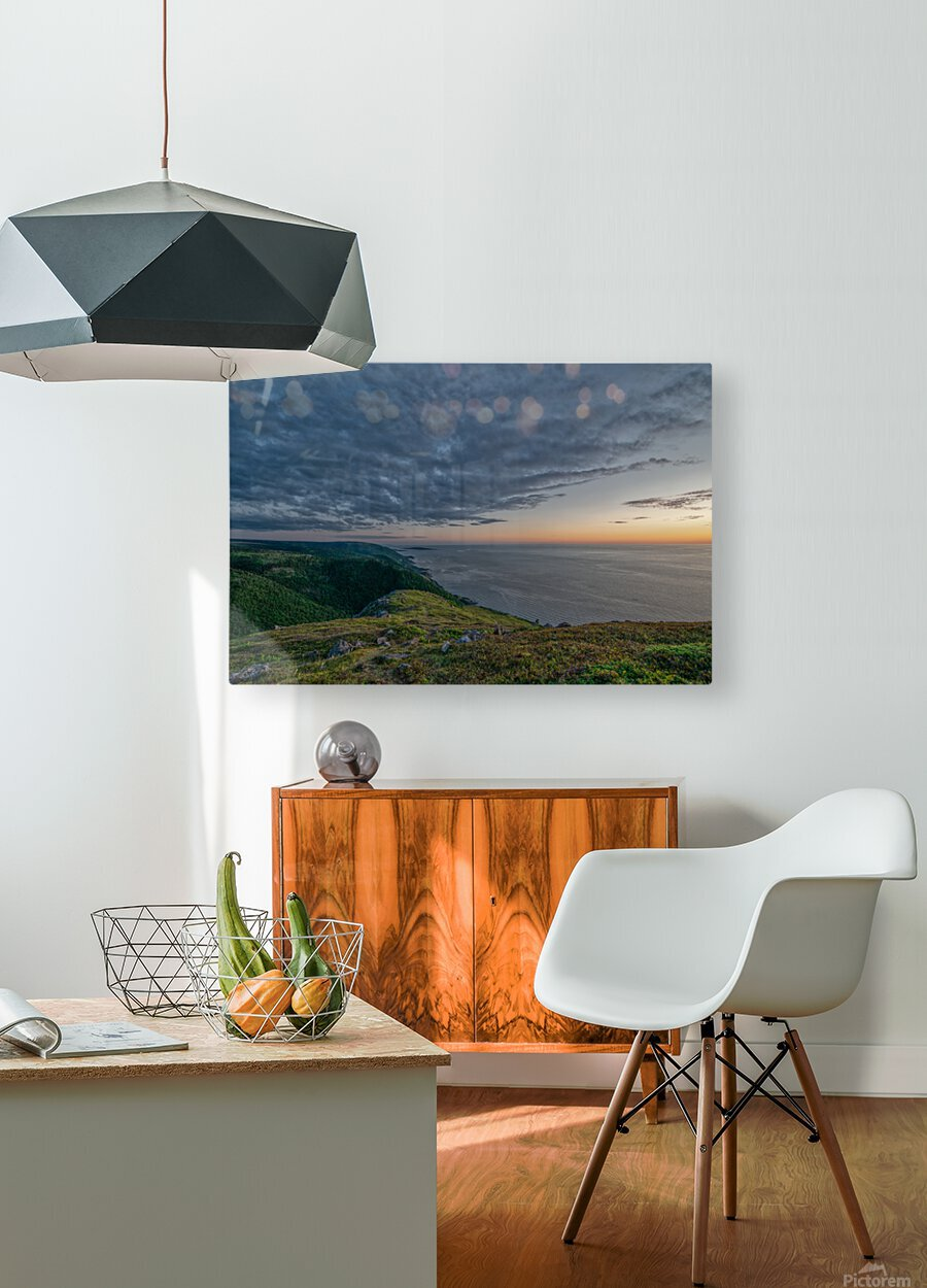 Blueberry Mountain Vista  HD Metal print with Floating Frame on Back