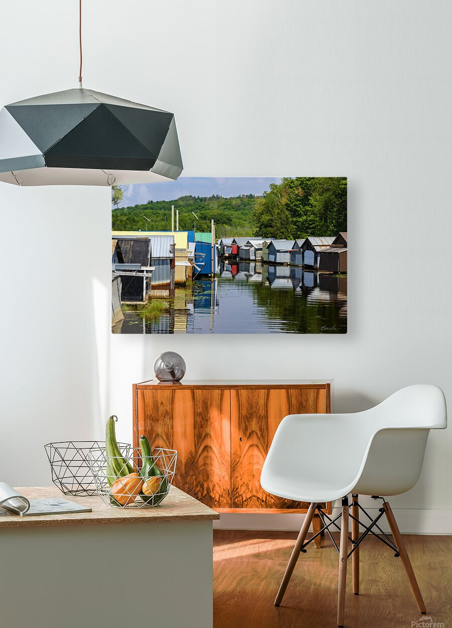 Hangars    bateaux - Boathouses  HD Metal print with Floating Frame on Back