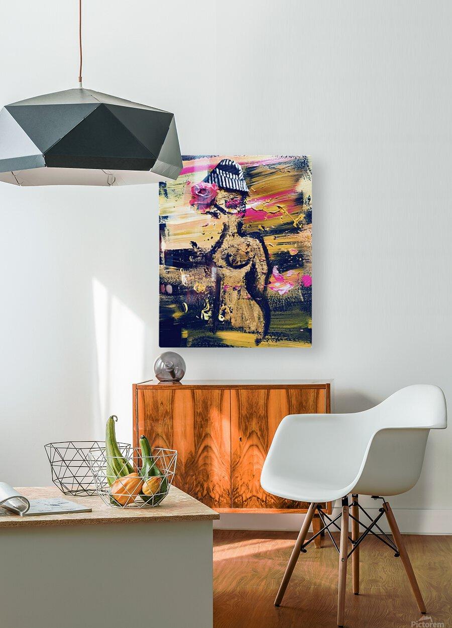 Vivienne  HD Metal print with Floating Frame on Back
