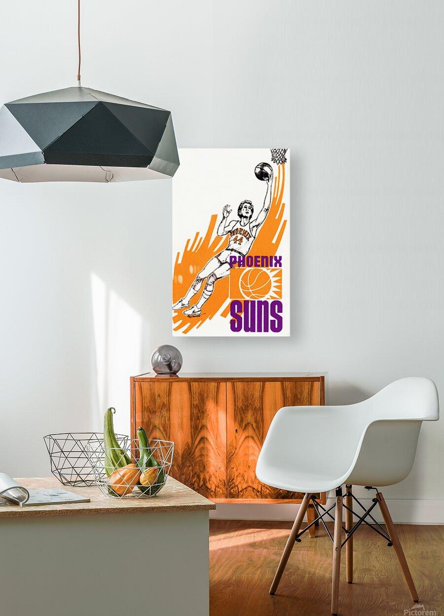 1977 Phoenix Suns Basketball Art  HD Metal print with Floating Frame on Back