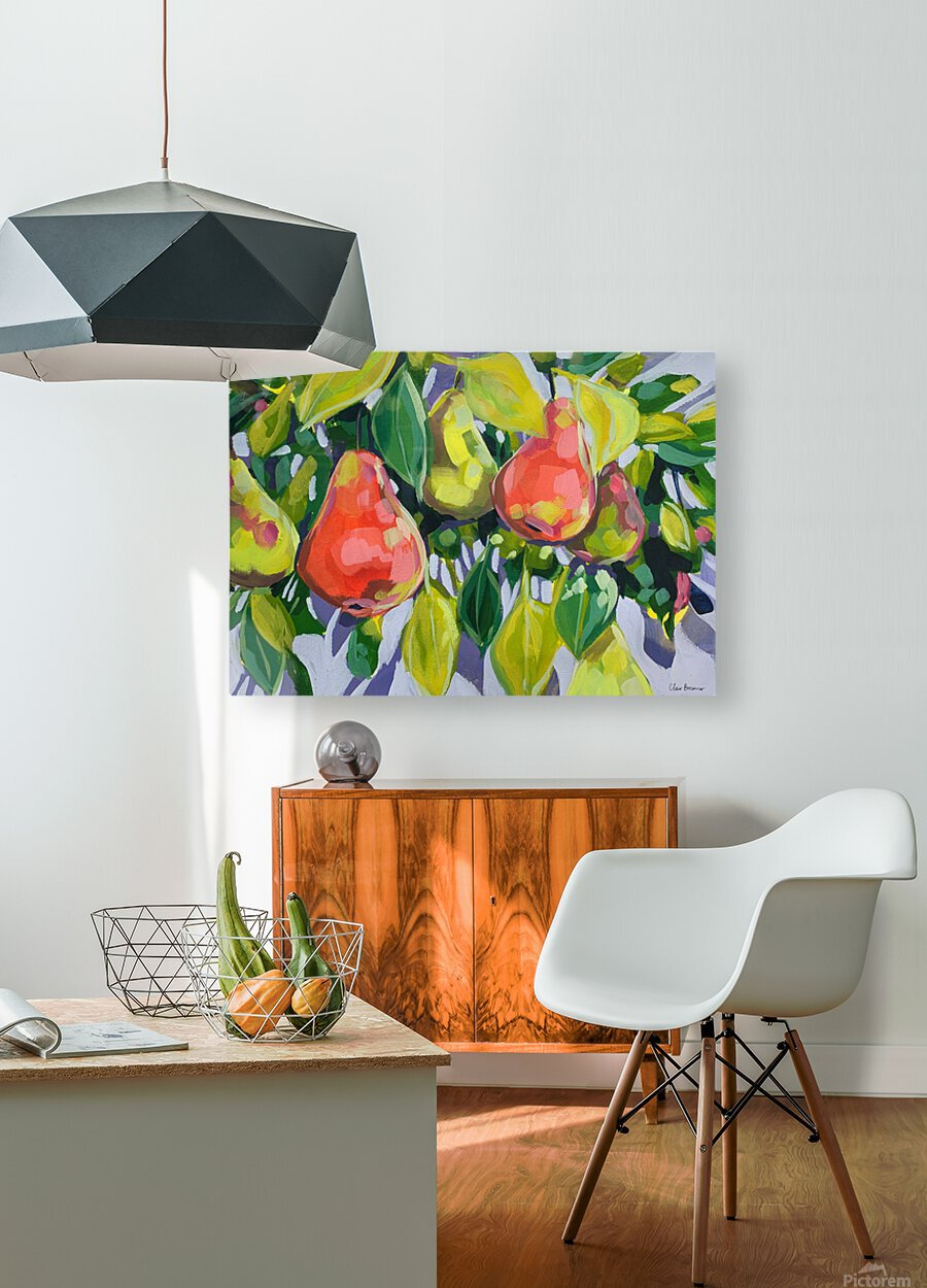 Too Many Pears  HD Metal print with Floating Frame on Back