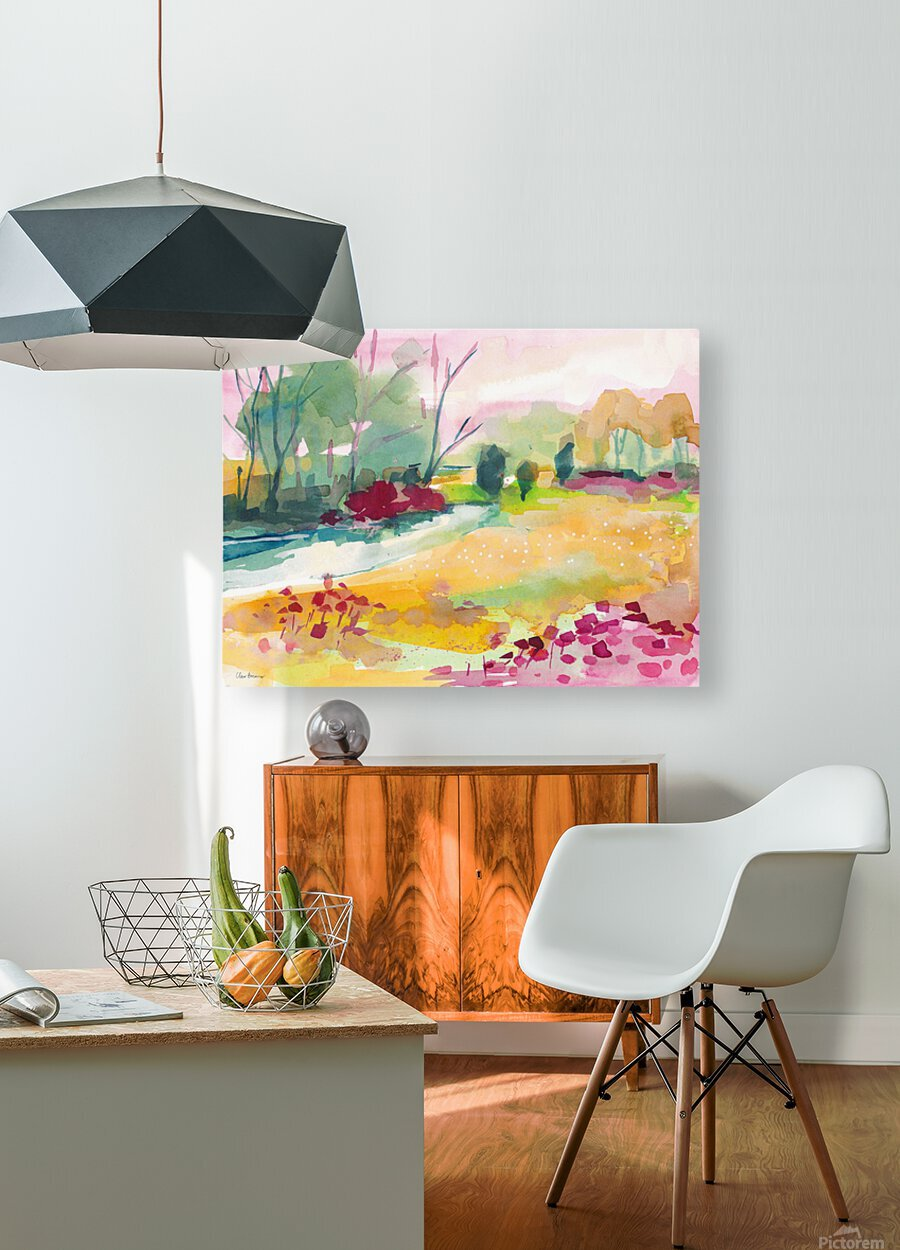 Wildflower Field  HD Metal print with Floating Frame on Back