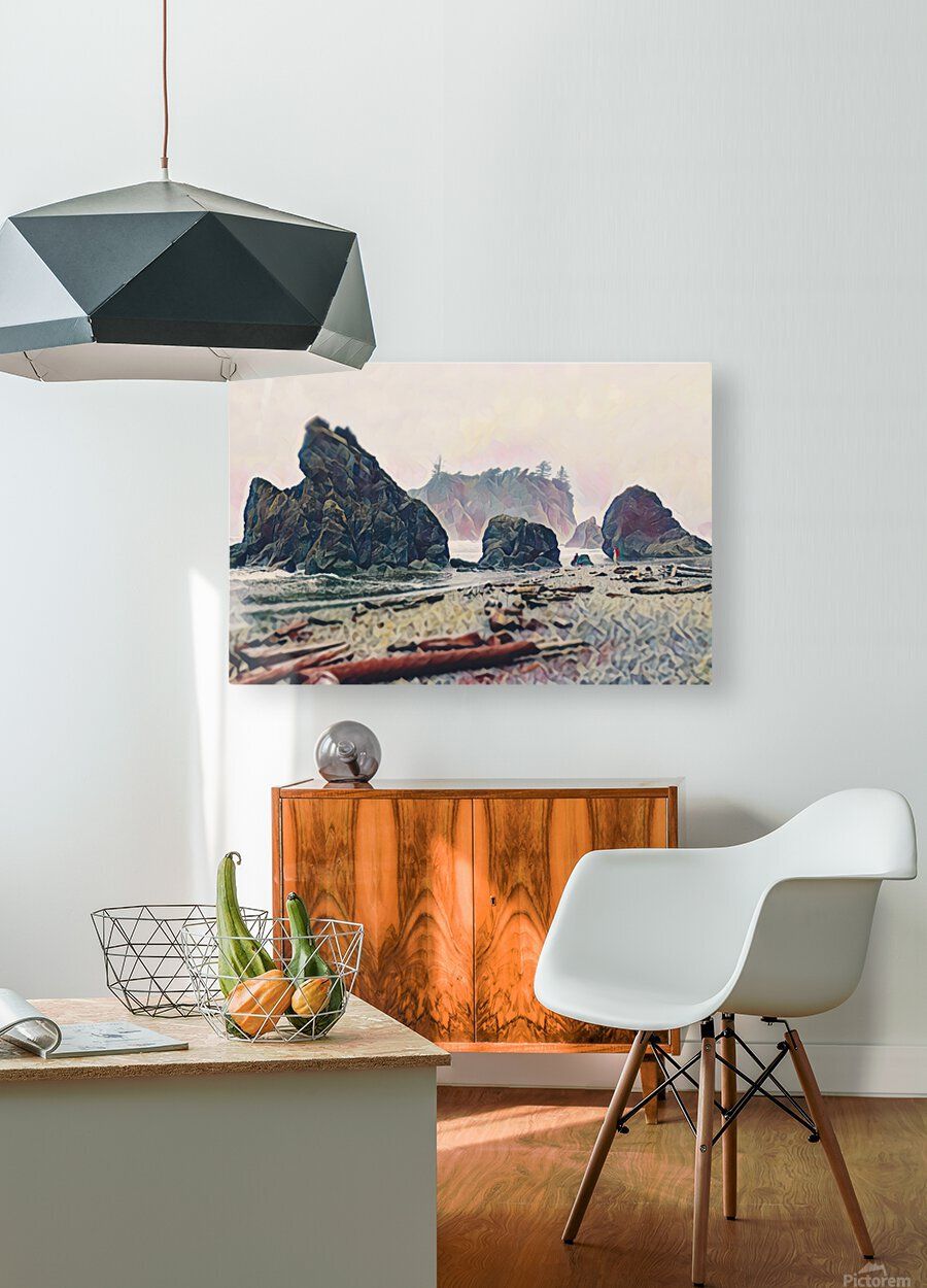 Ruby Beach  HD Metal print with Floating Frame on Back
