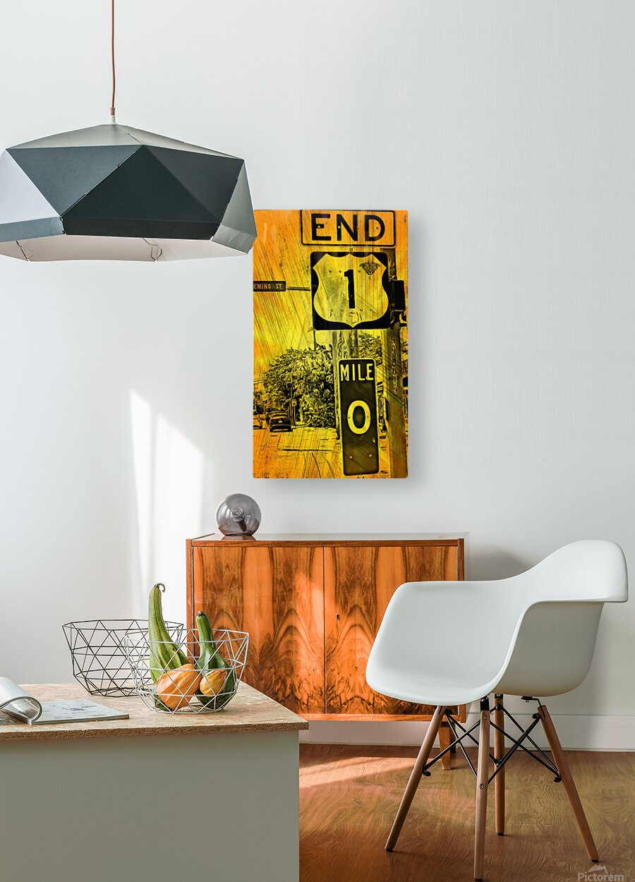Key West Mile 0  HD Metal print with Floating Frame on Back