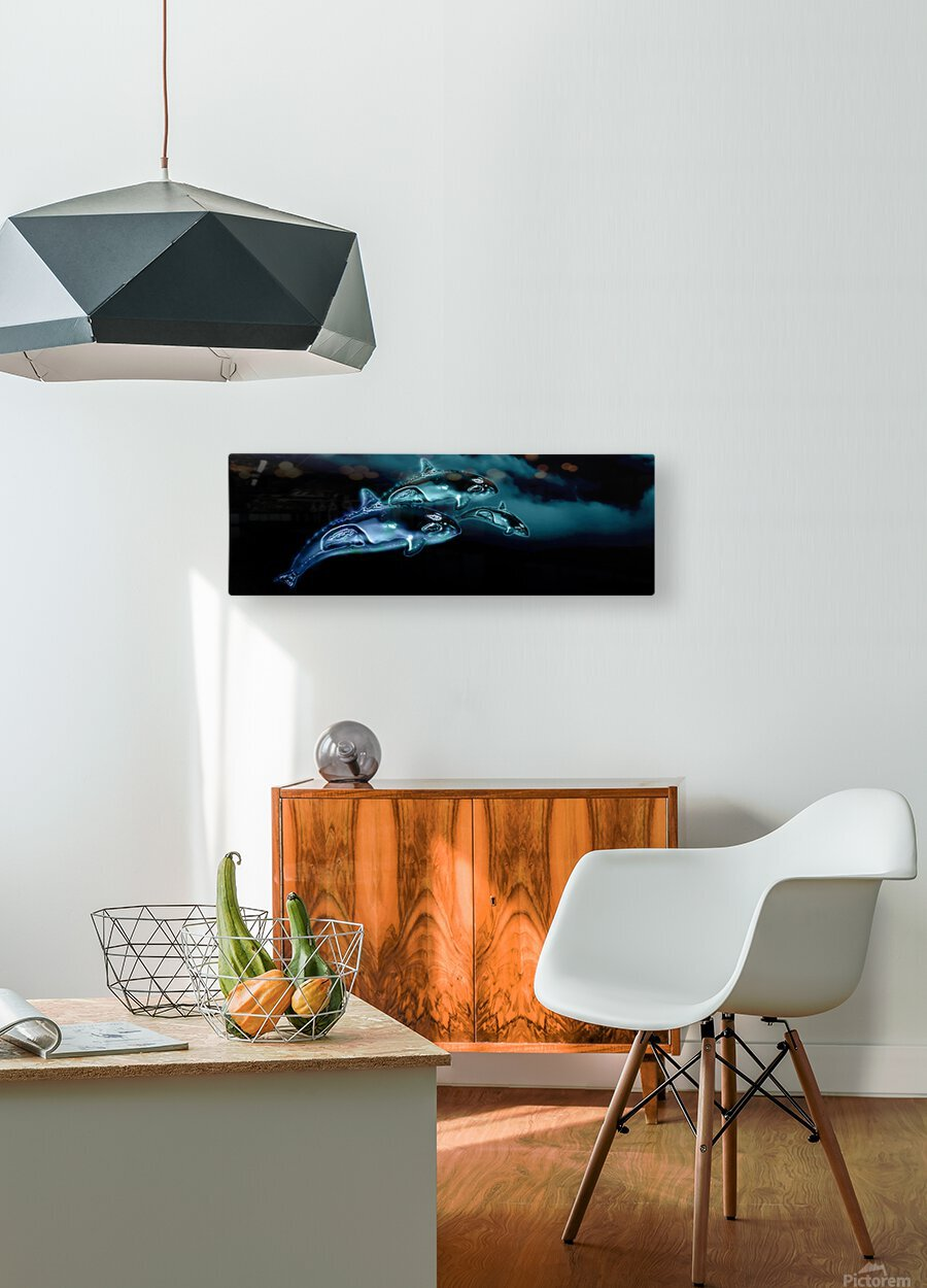 ORCAS LUNARES WIDE 8  HD Metal print with Floating Frame on Back