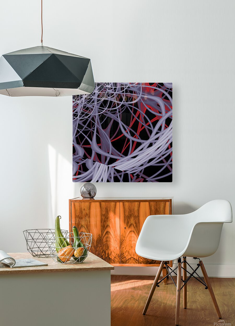 Spaghettification  HD Metal print with Floating Frame on Back
