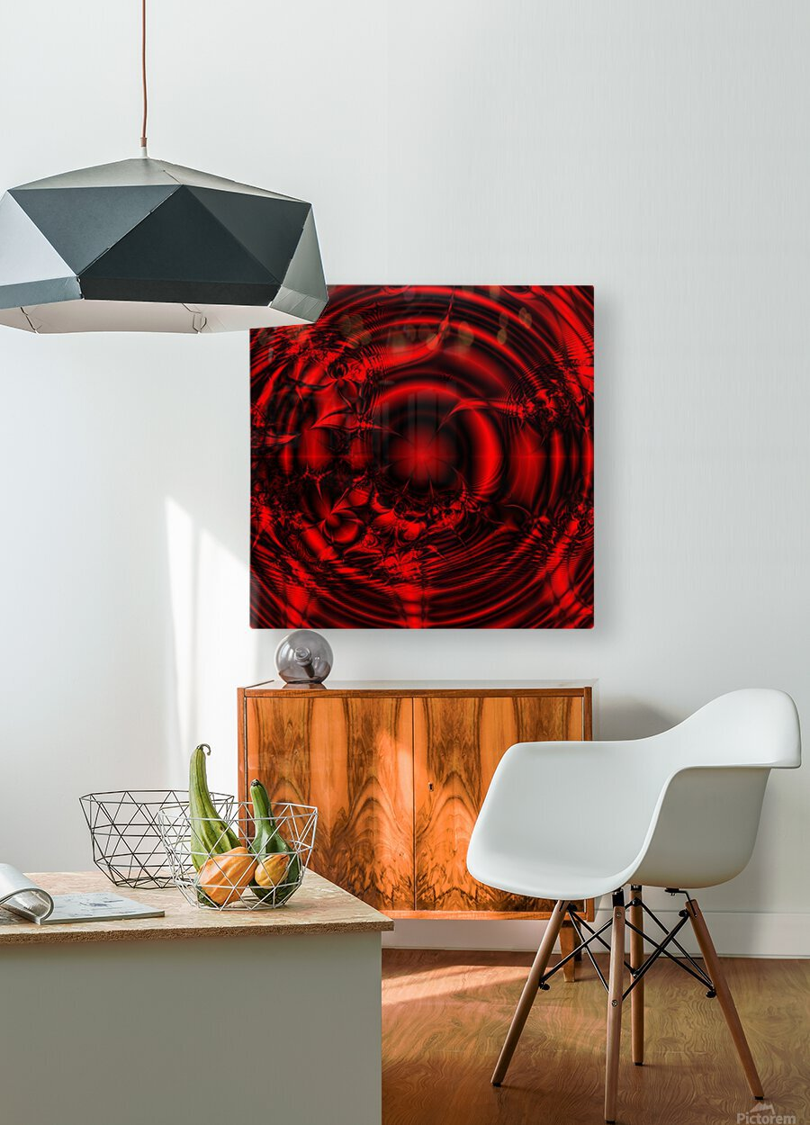 RedCell  HD Metal print with Floating Frame on Back