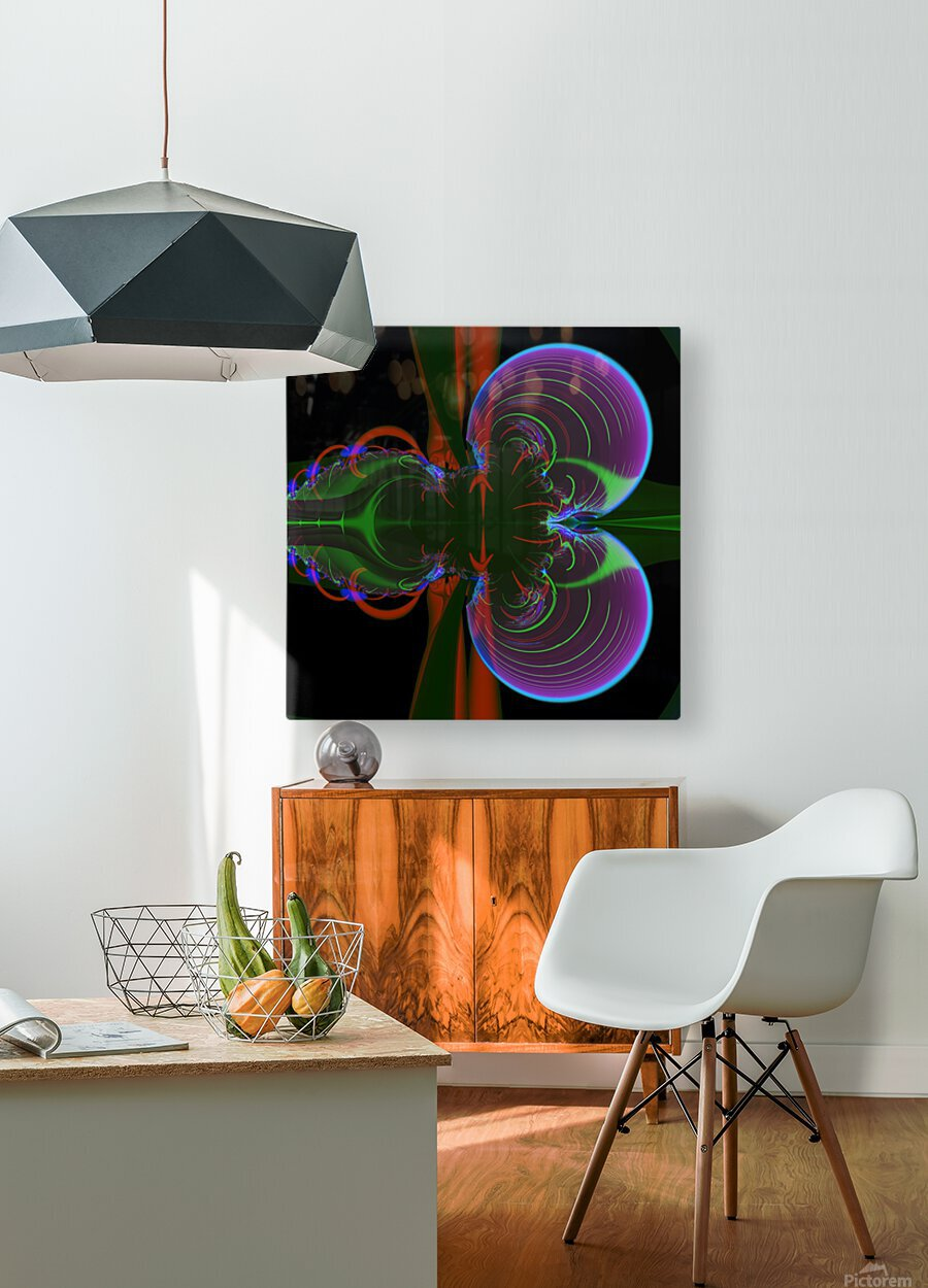 Penetration  HD Metal print with Floating Frame on Back