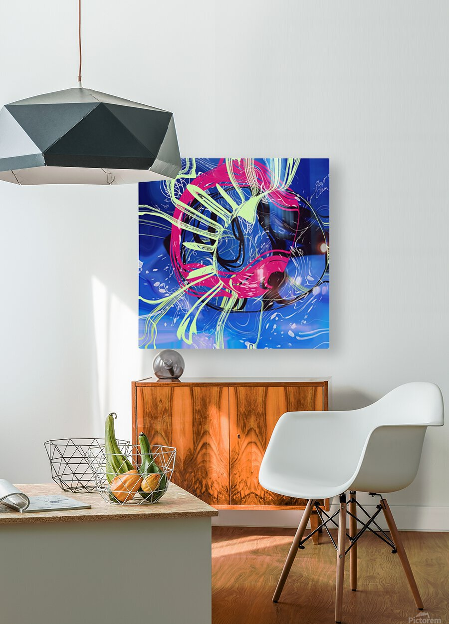Invented Space Journey 2  HD Metal print with Floating Frame on Back