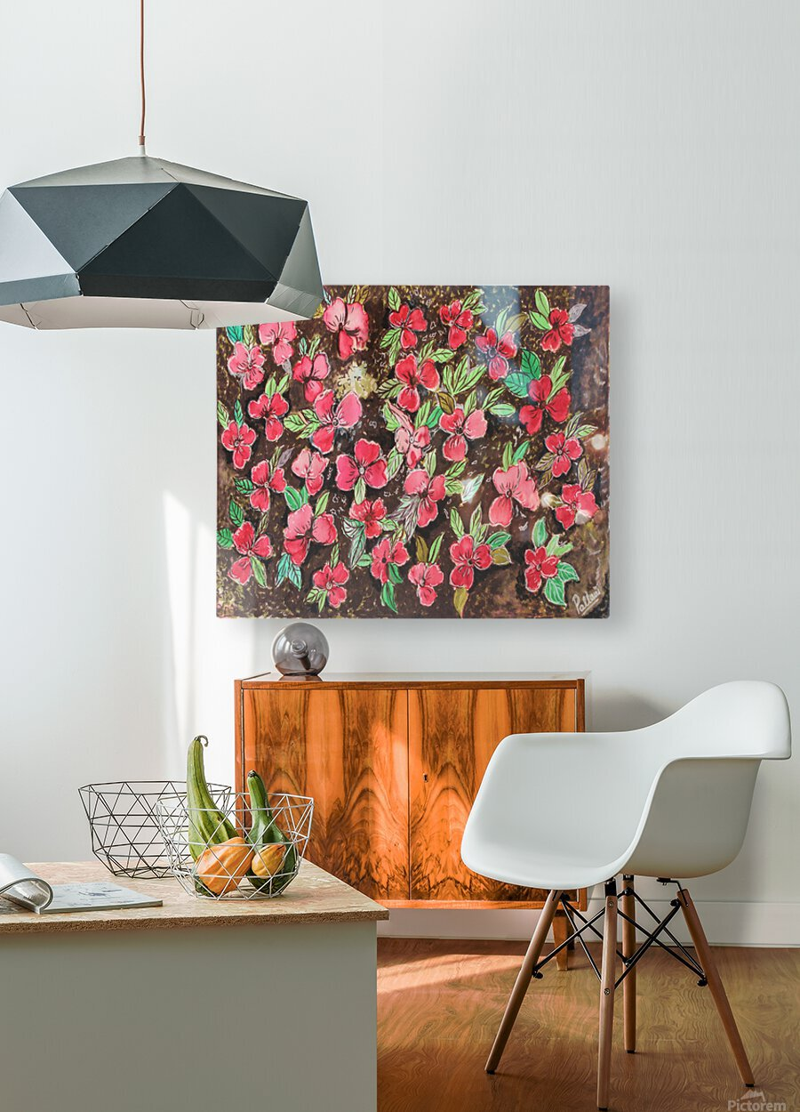 Redflowers  HD Metal print with Floating Frame on Back
