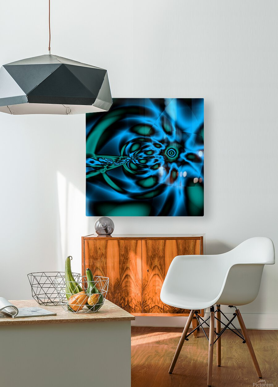 Wormhole approach  HD Metal print with Floating Frame on Back