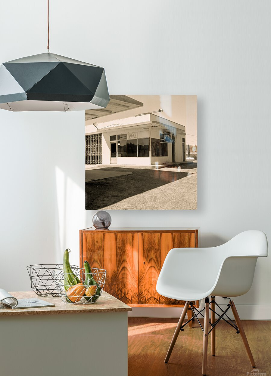 Urban Loneliness - The Gas Station  HD Metal print with Floating Frame on Back
