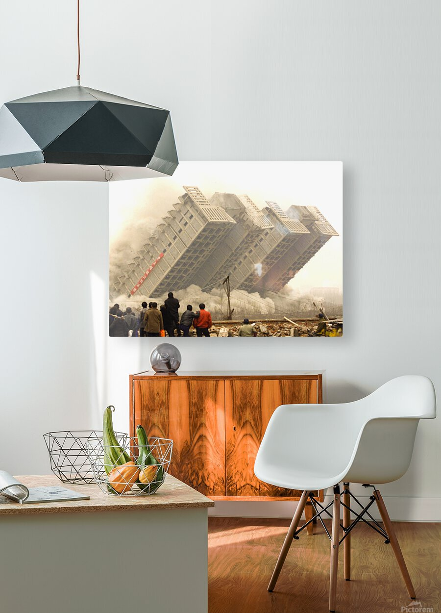 Urban Loneliness - The Crumbling Society  HD Metal print with Floating Frame on Back