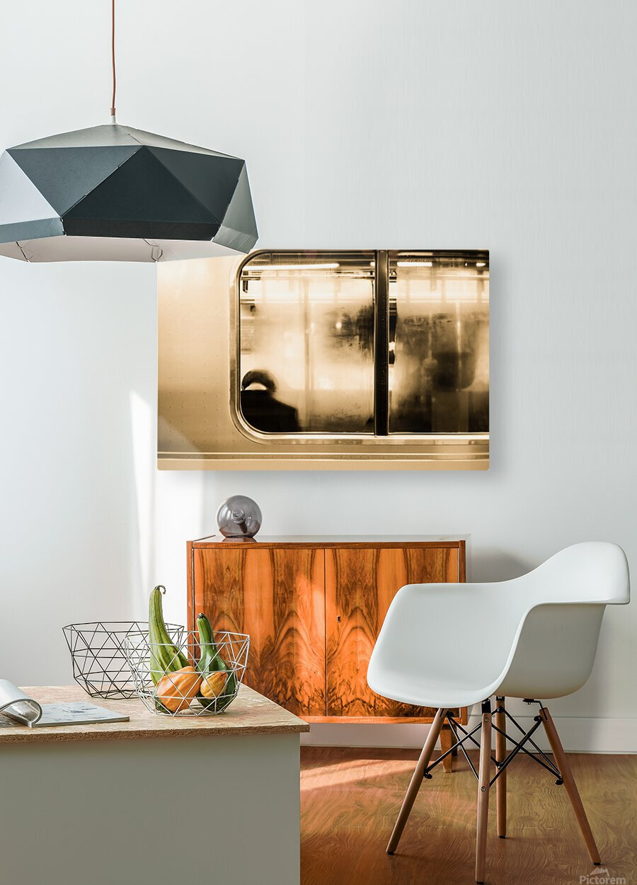 Urban Loneliness - Metro  HD Metal print with Floating Frame on Back