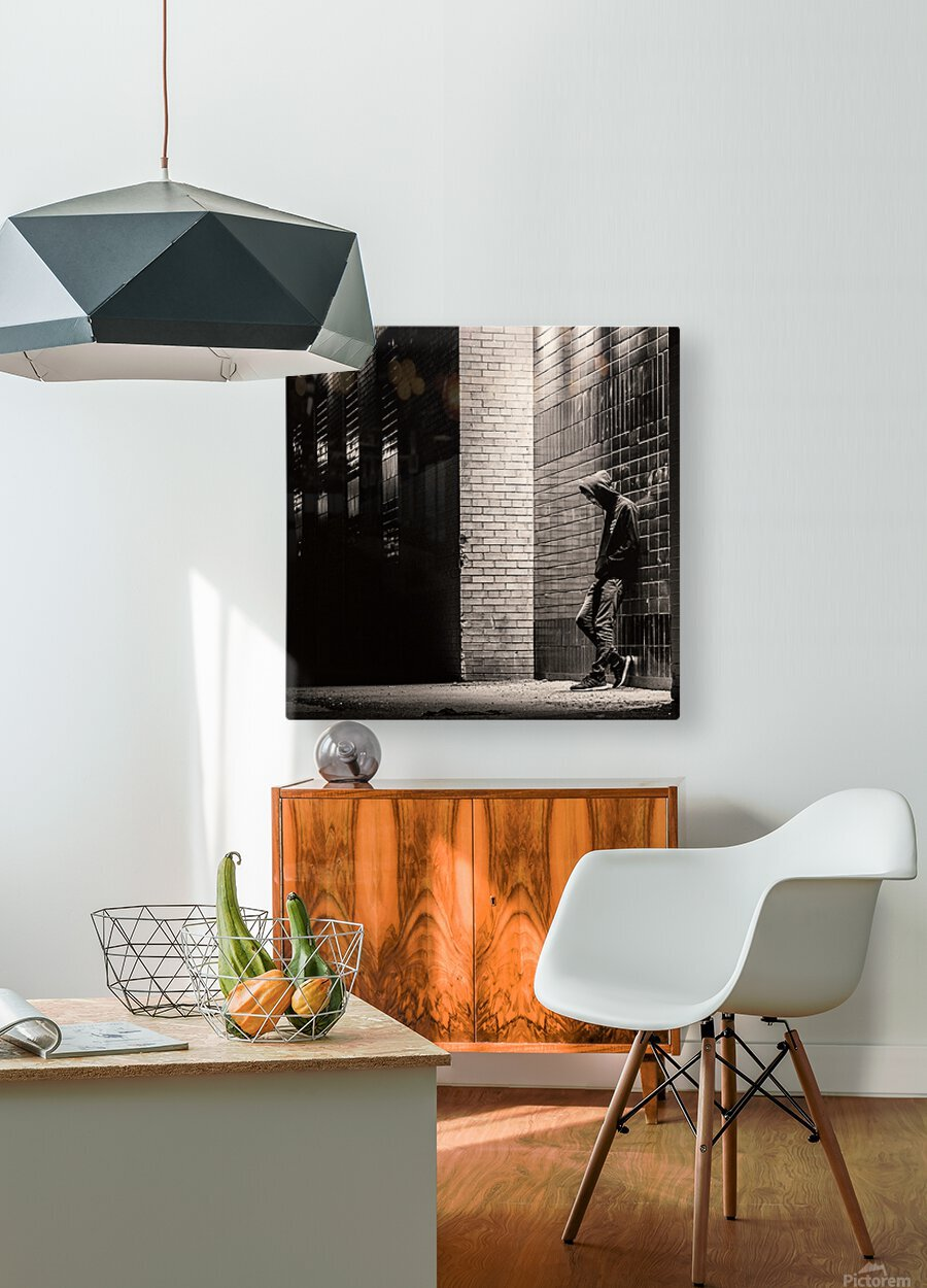 Urban Loneliness - The Lonely Teen  HD Metal print with Floating Frame on Back