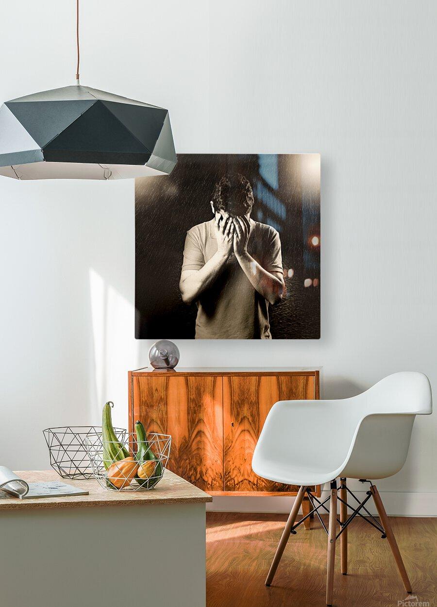 Urban Loneliness - The Hidden Disaster  HD Metal print with Floating Frame on Back