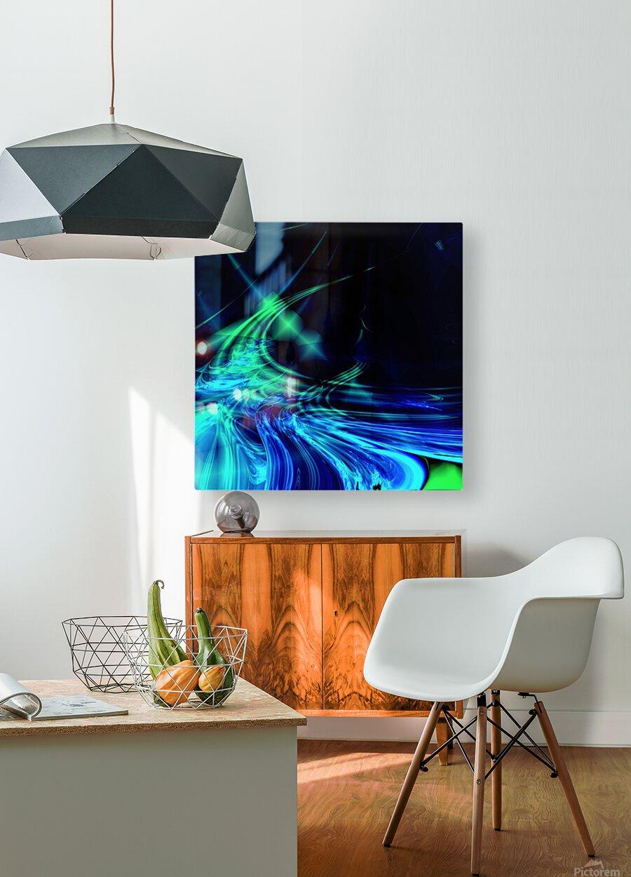 Tsunami  HD Metal print with Floating Frame on Back
