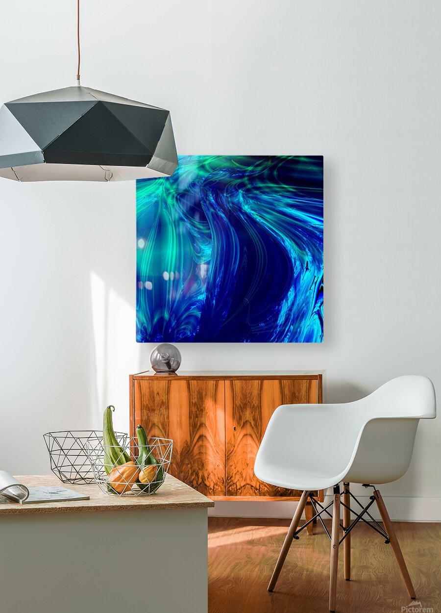 Glasswaves  HD Metal print with Floating Frame on Back
