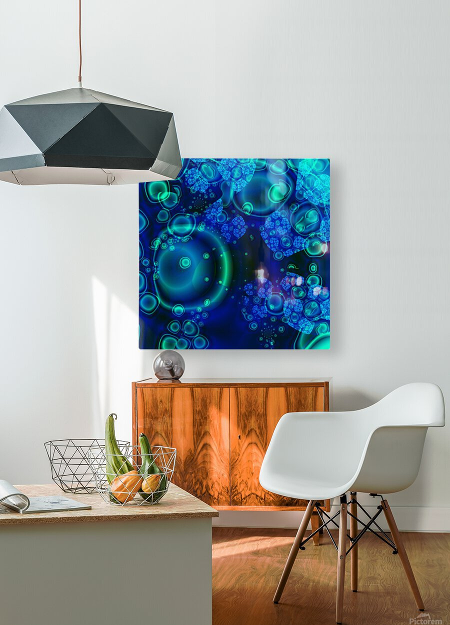 SeaCells  HD Metal print with Floating Frame on Back