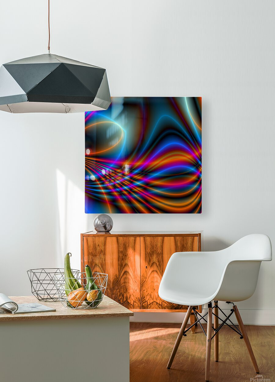 Timestrings  HD Metal print with Floating Frame on Back