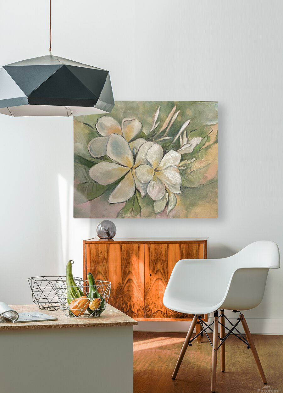 Plumeria   HD Metal print with Floating Frame on Back