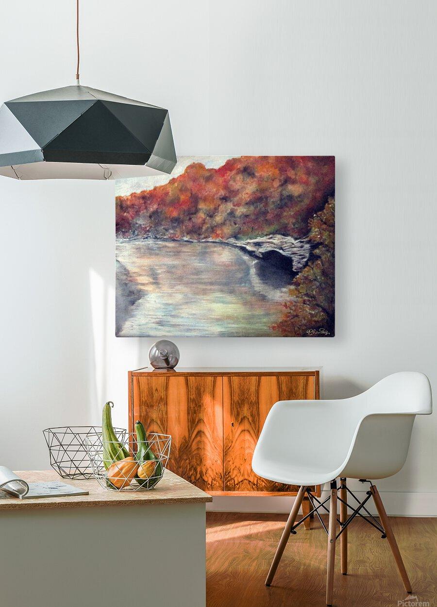 Seasons  HD Metal print with Floating Frame on Back