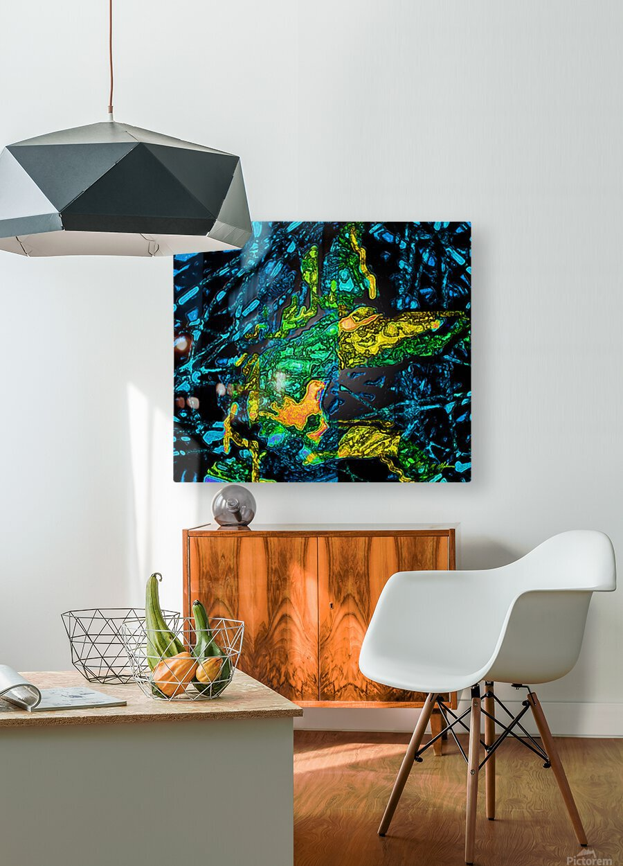 Tangled Transformation 4  HD Metal print with Floating Frame on Back