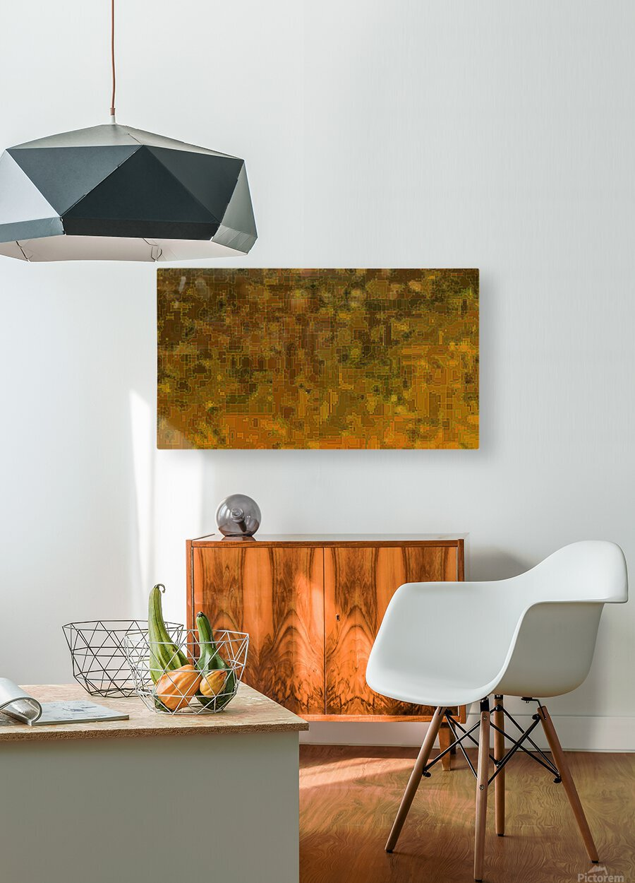 Circuit Board  HD Metal print with Floating Frame on Back