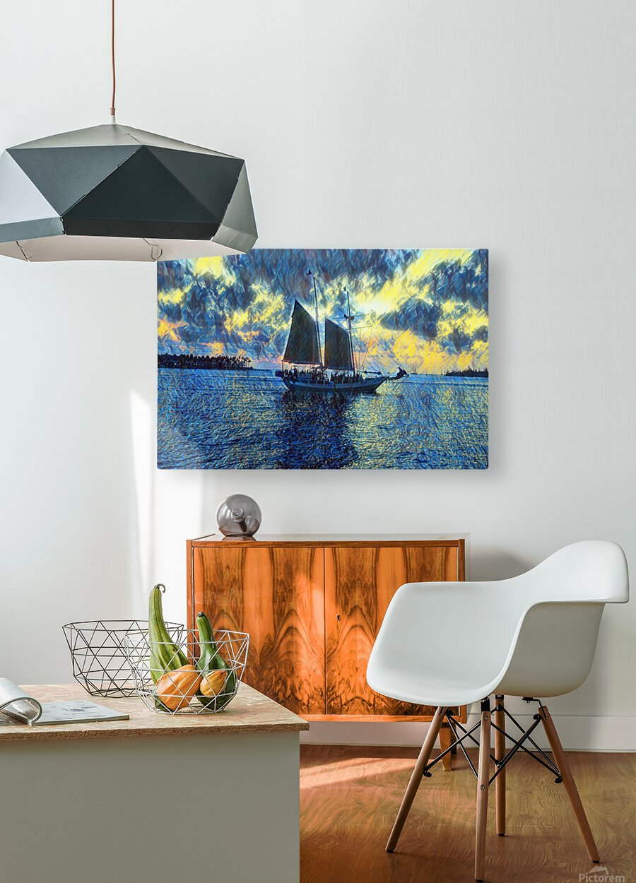 Sailboat  HD Metal print with Floating Frame on Back