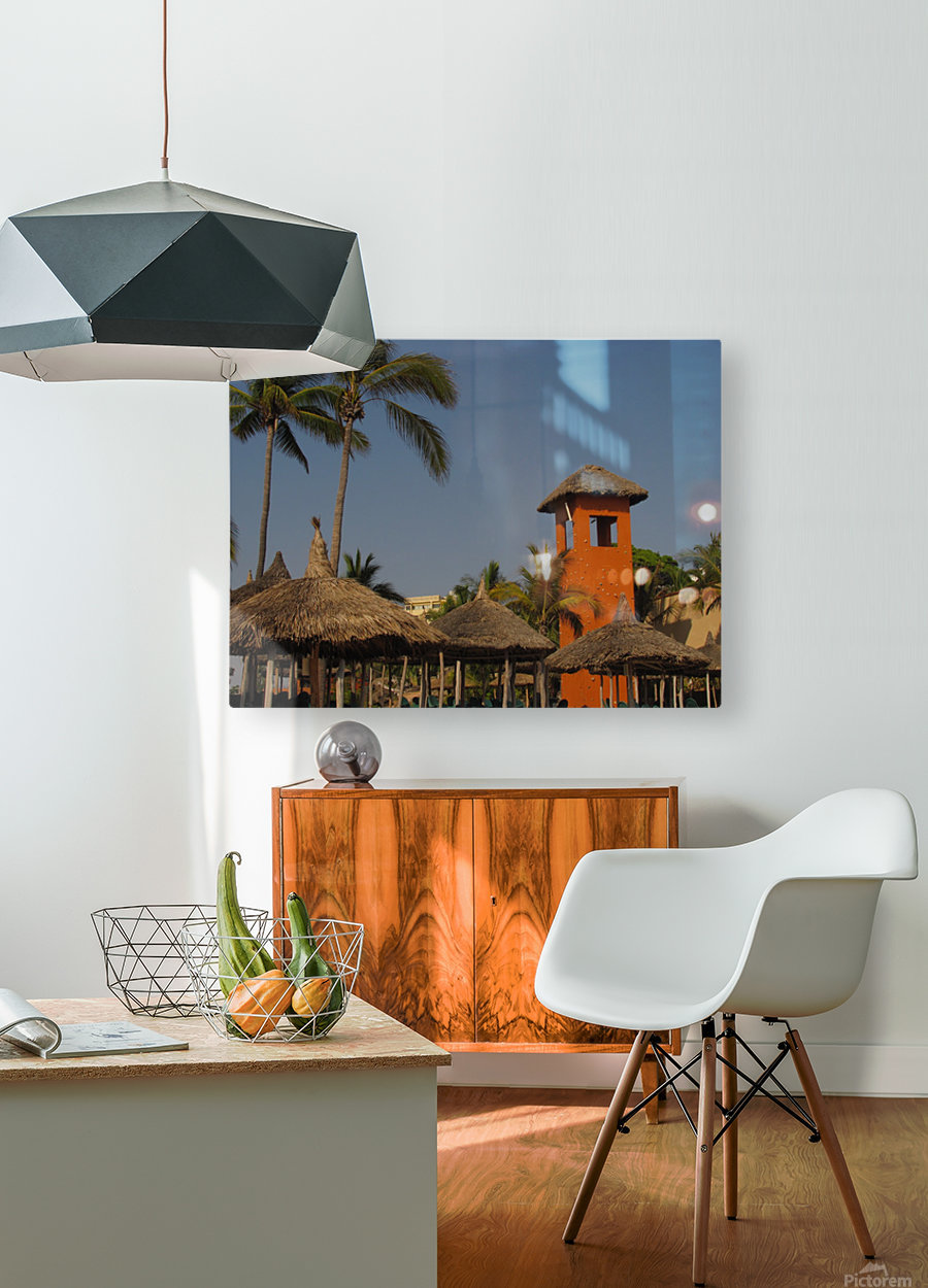 Mazatlan Resort  HD Metal print with Floating Frame on Back