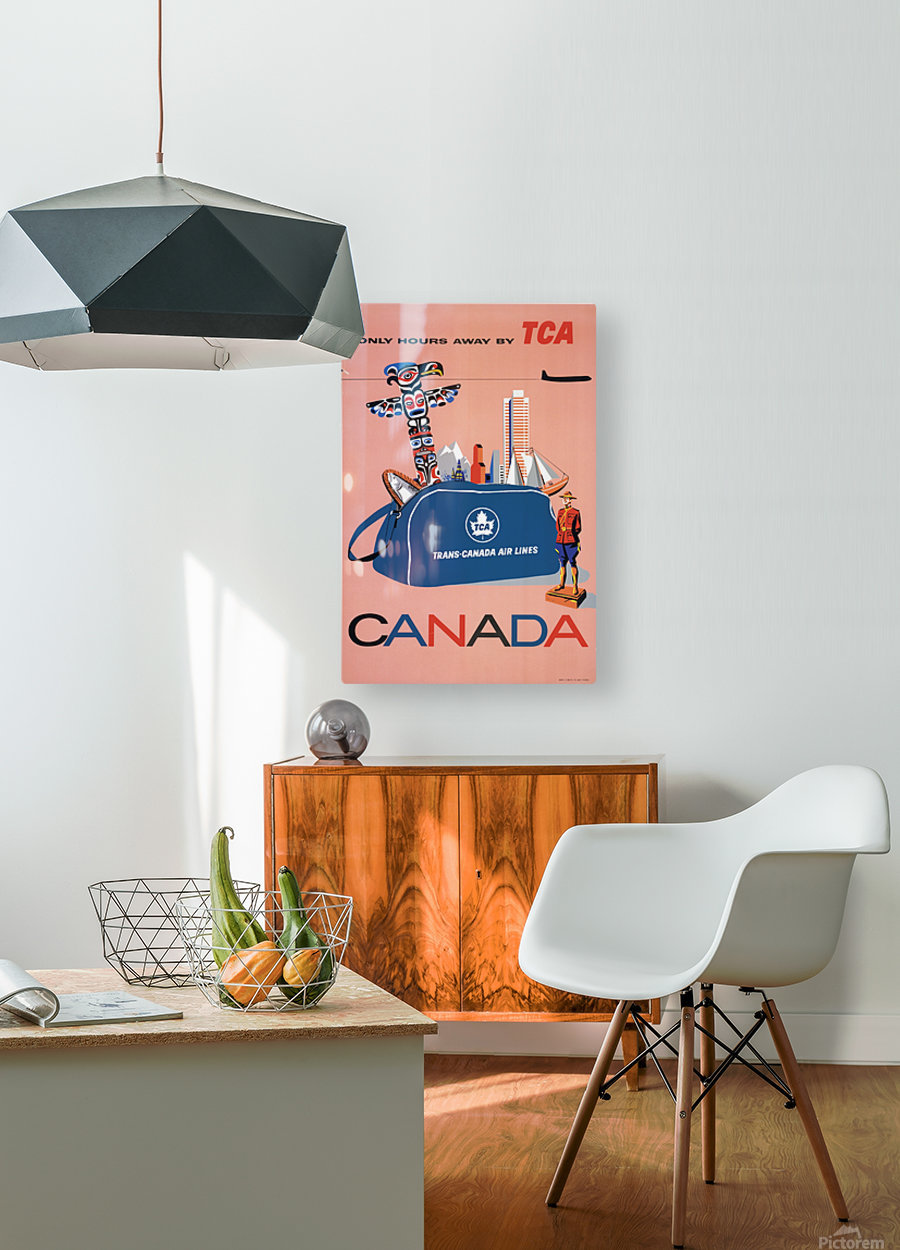 Vintage Toronto travel poster  HD Metal print with Floating Frame on Back