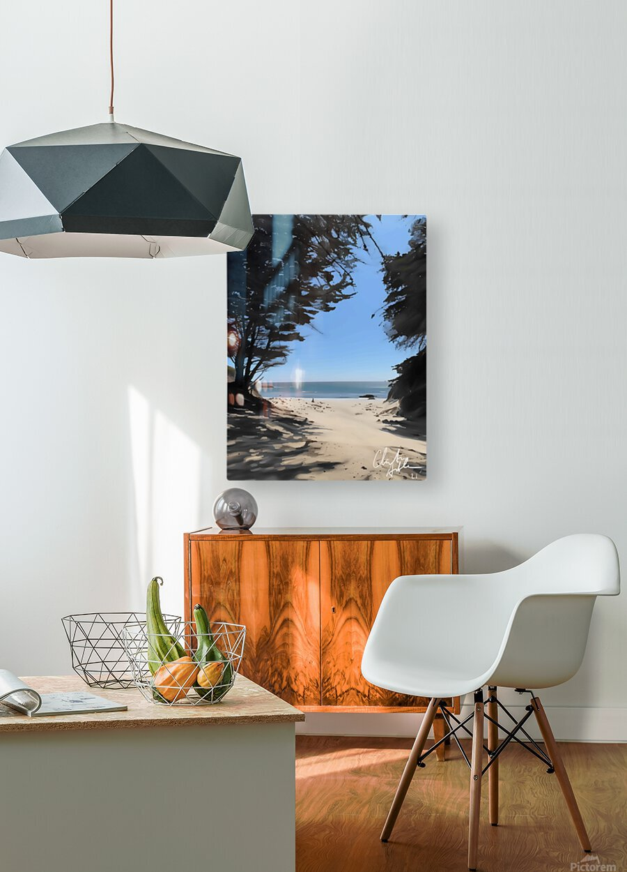 Peaceful Beach  HD Metal print with Floating Frame on Back