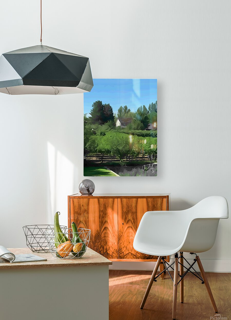 Fields of Green  HD Metal print with Floating Frame on Back