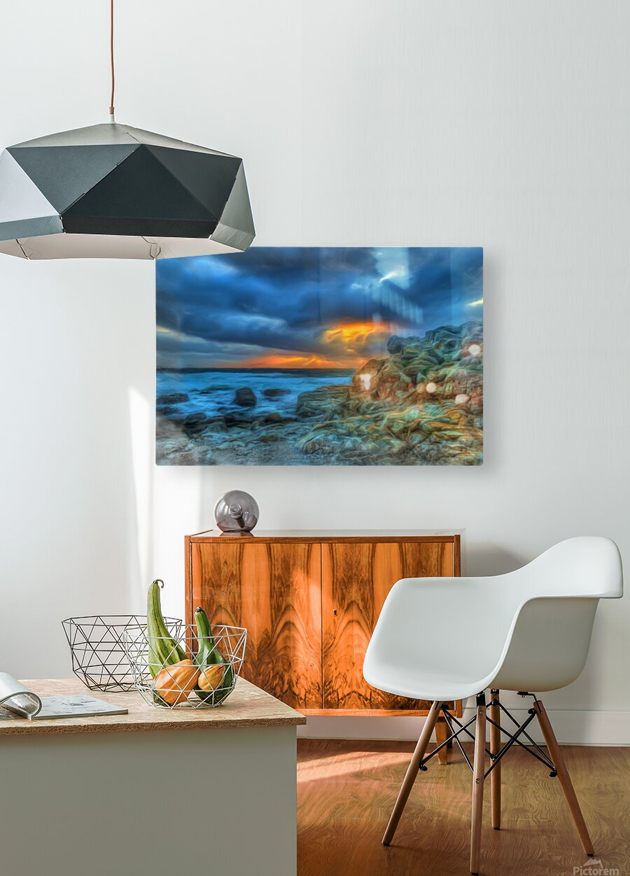 Evening Storm  HD Metal print with Floating Frame on Back