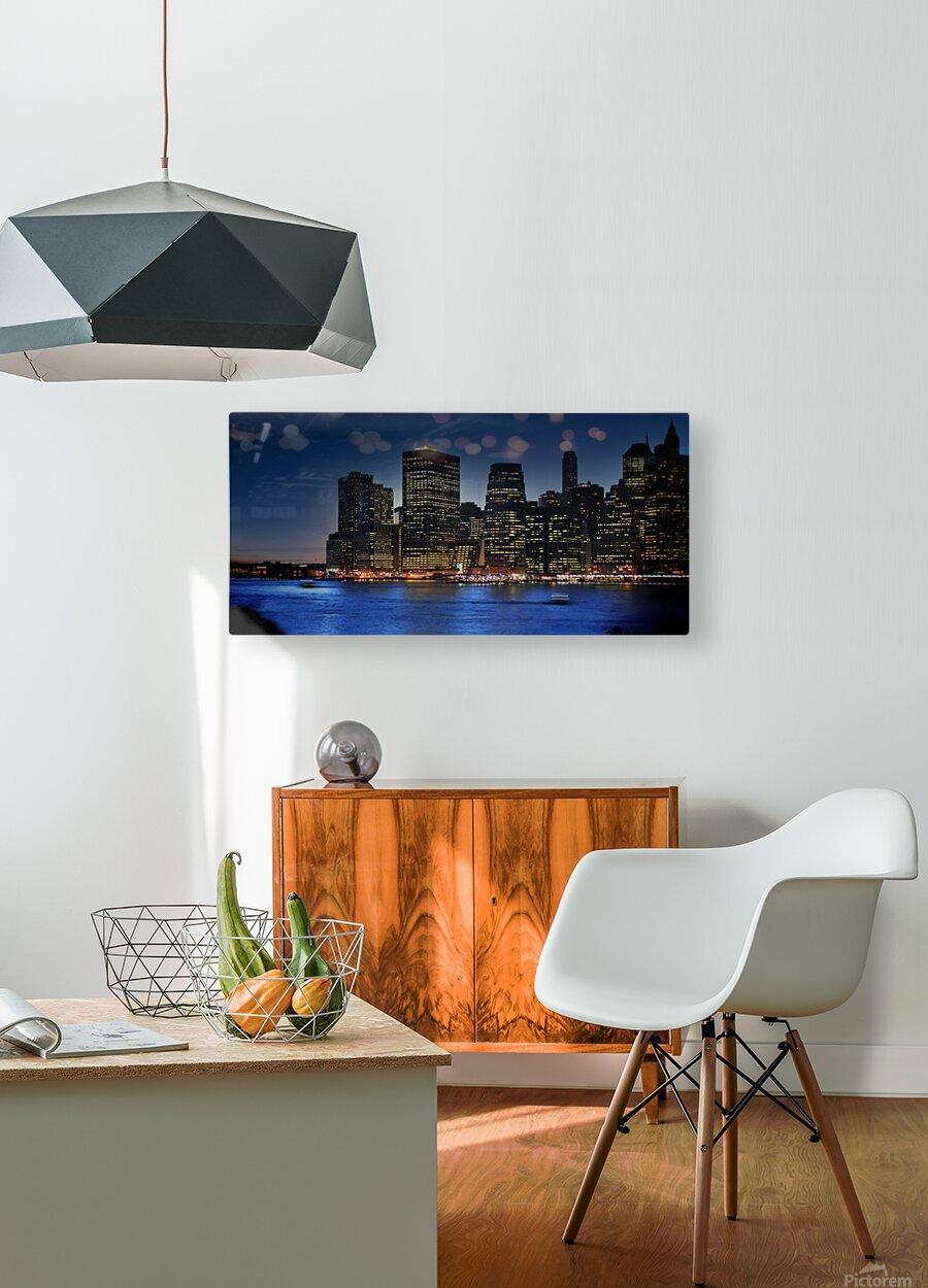 Brooklyn   USA Skyline  HD Metal print with Floating Frame on Back