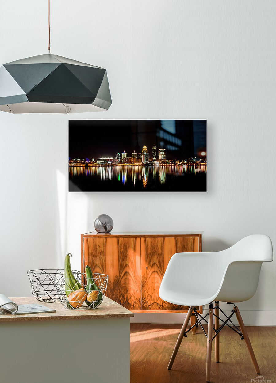Louisville Skyline  HD Metal print with Floating Frame on Back