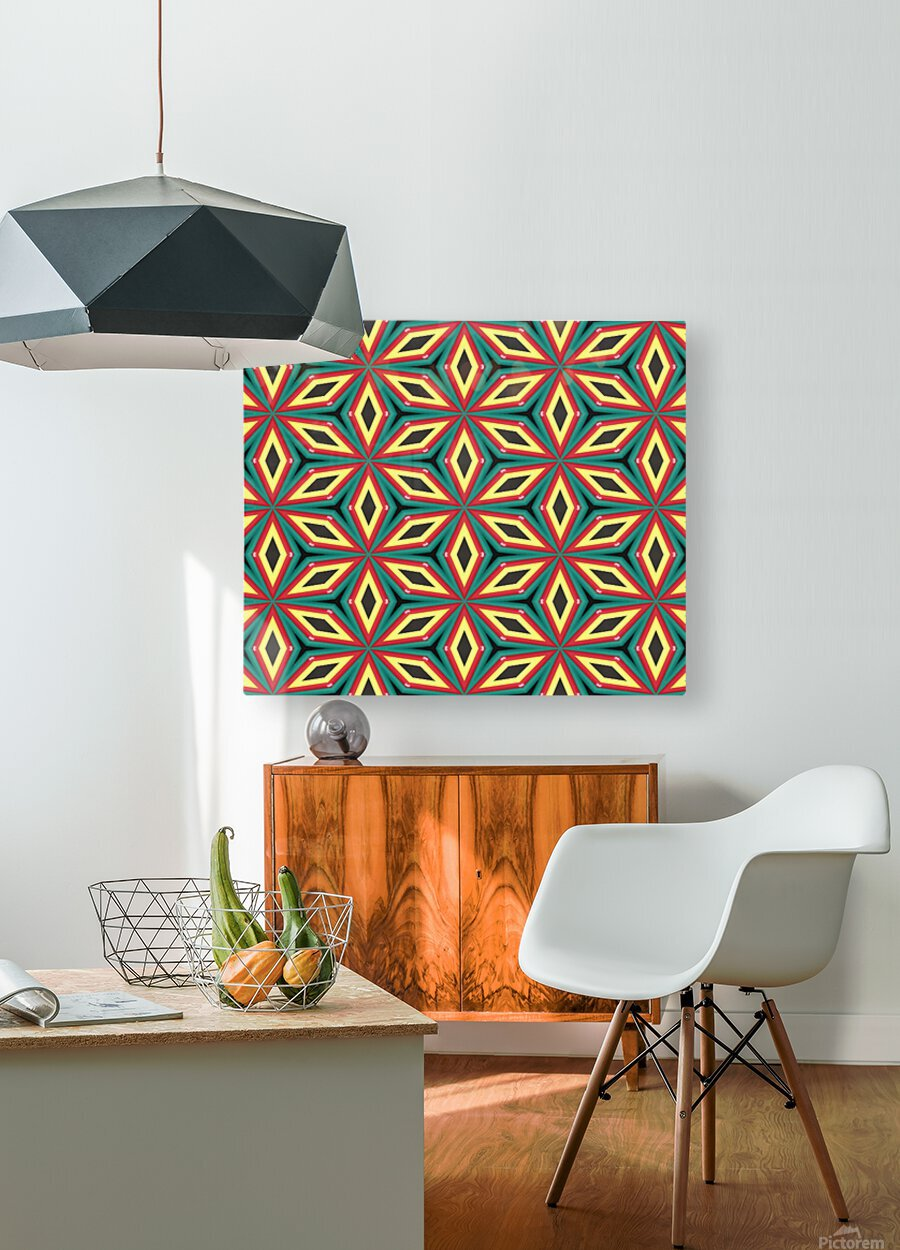 Colorful pattern  HD Metal print with Floating Frame on Back