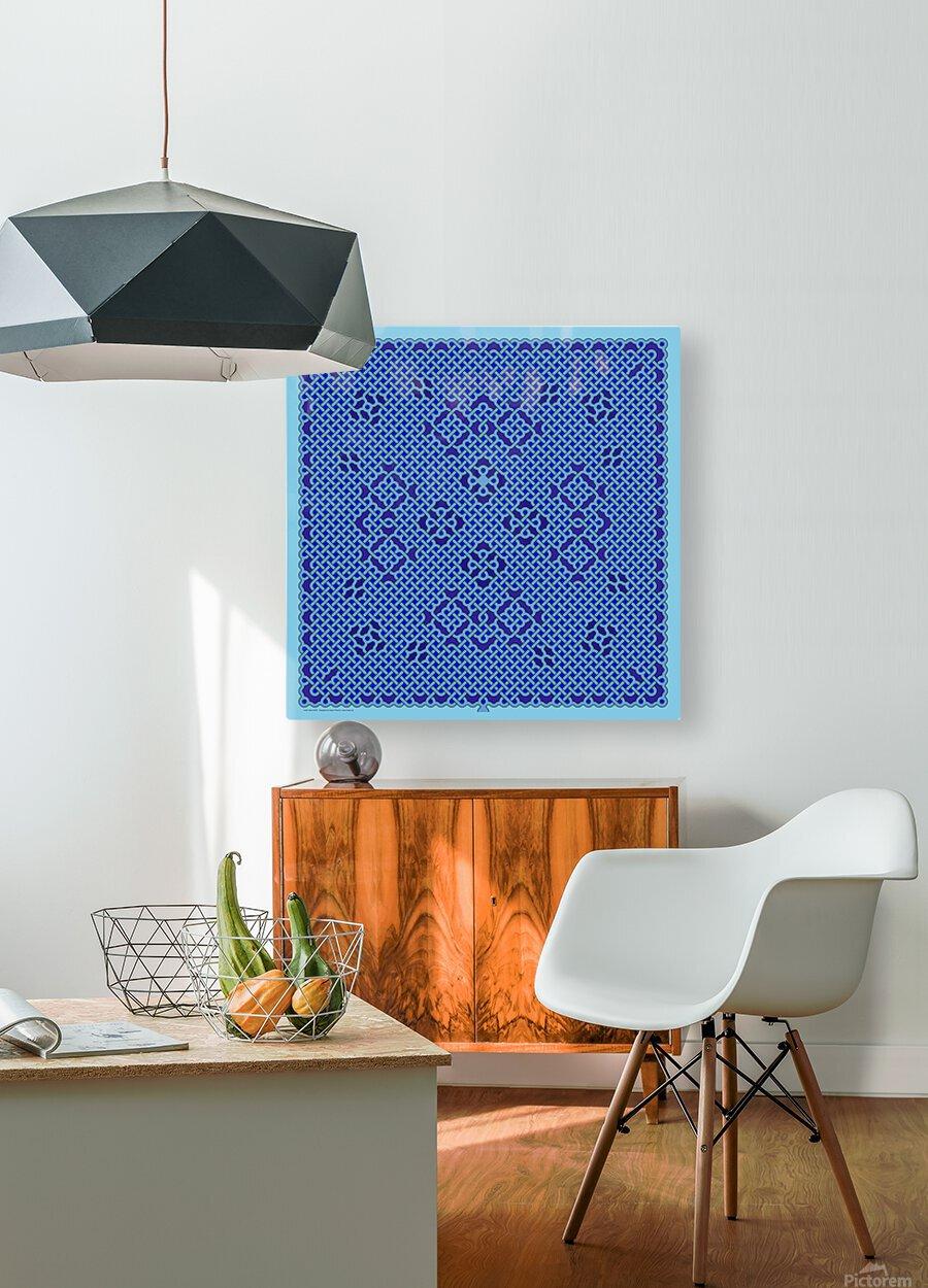 Celtic Maze 6003  HD Metal print with Floating Frame on Back