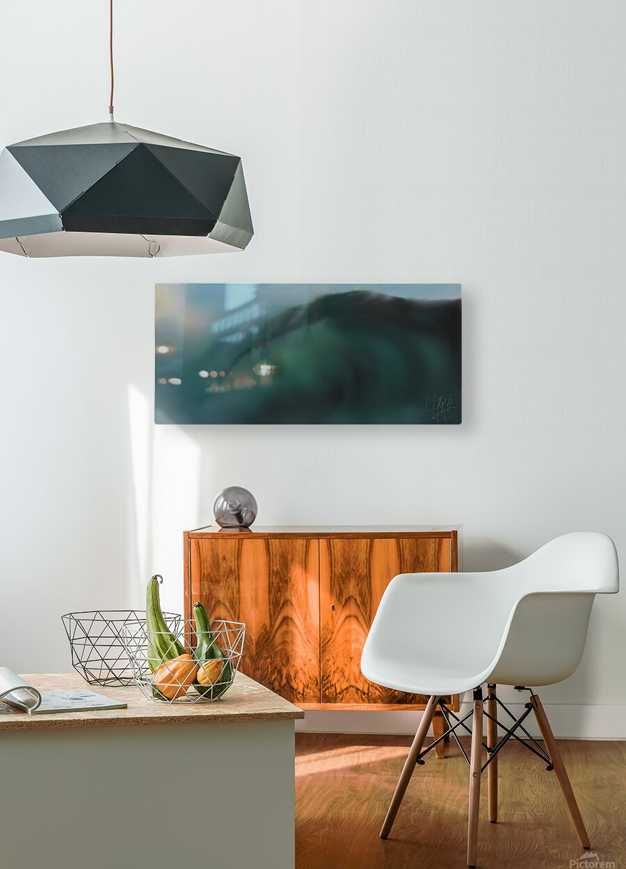 Night Wave  HD Metal print with Floating Frame on Back