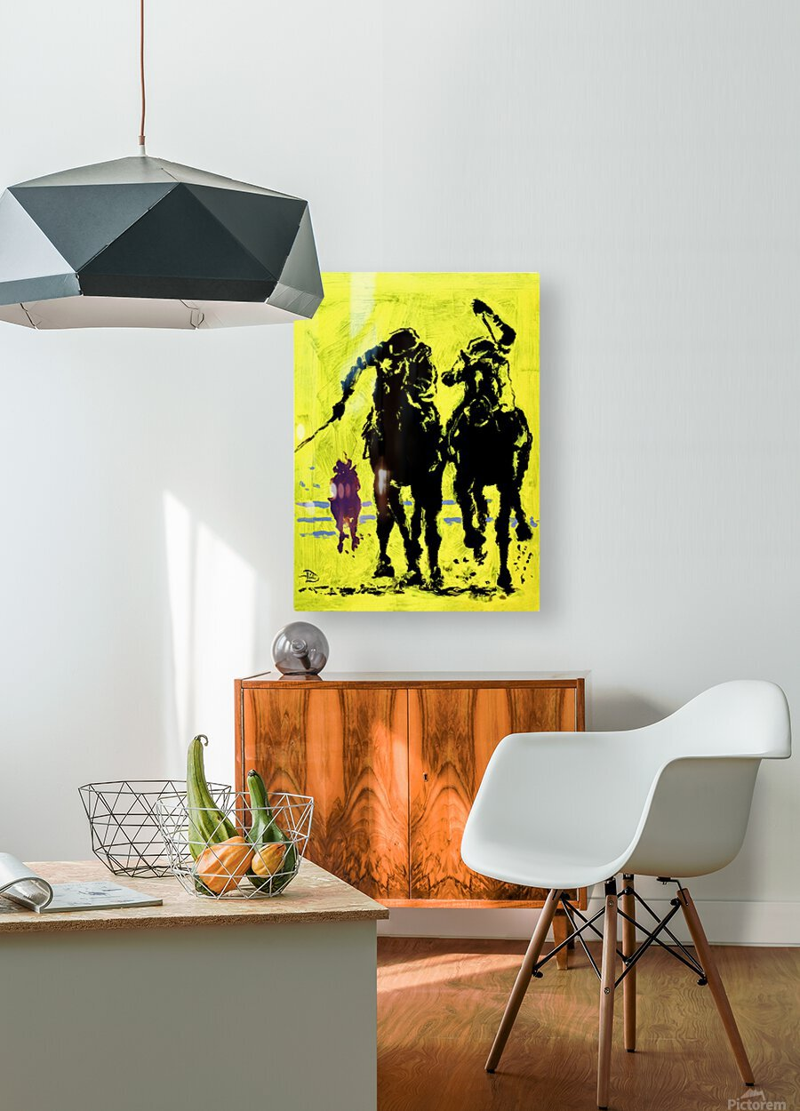 Triple Crowned  HD Metal print with Floating Frame on Back