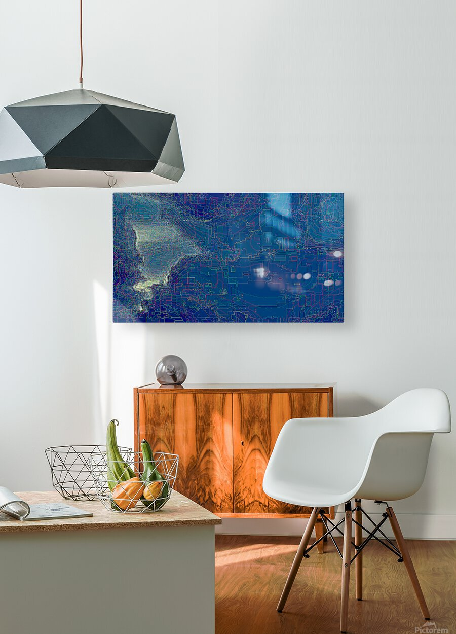 Waterfall Prism  HD Metal print with Floating Frame on Back