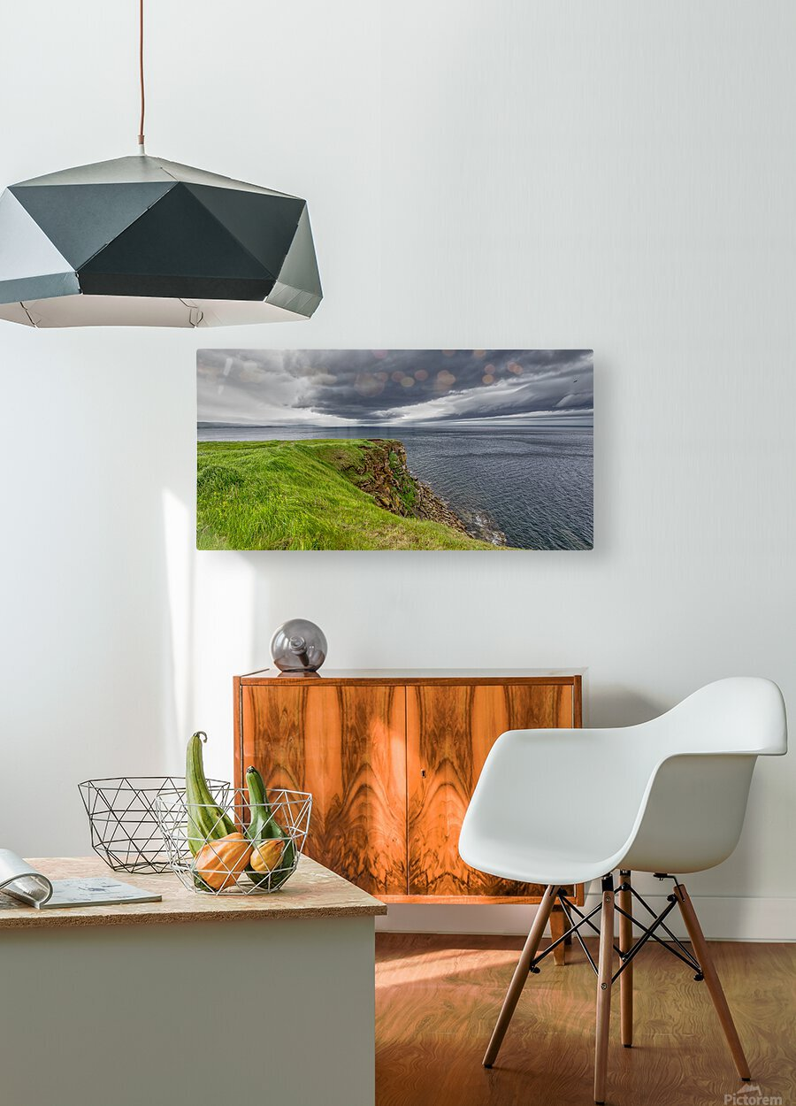 Cheticamp Island Drama  HD Metal print with Floating Frame on Back