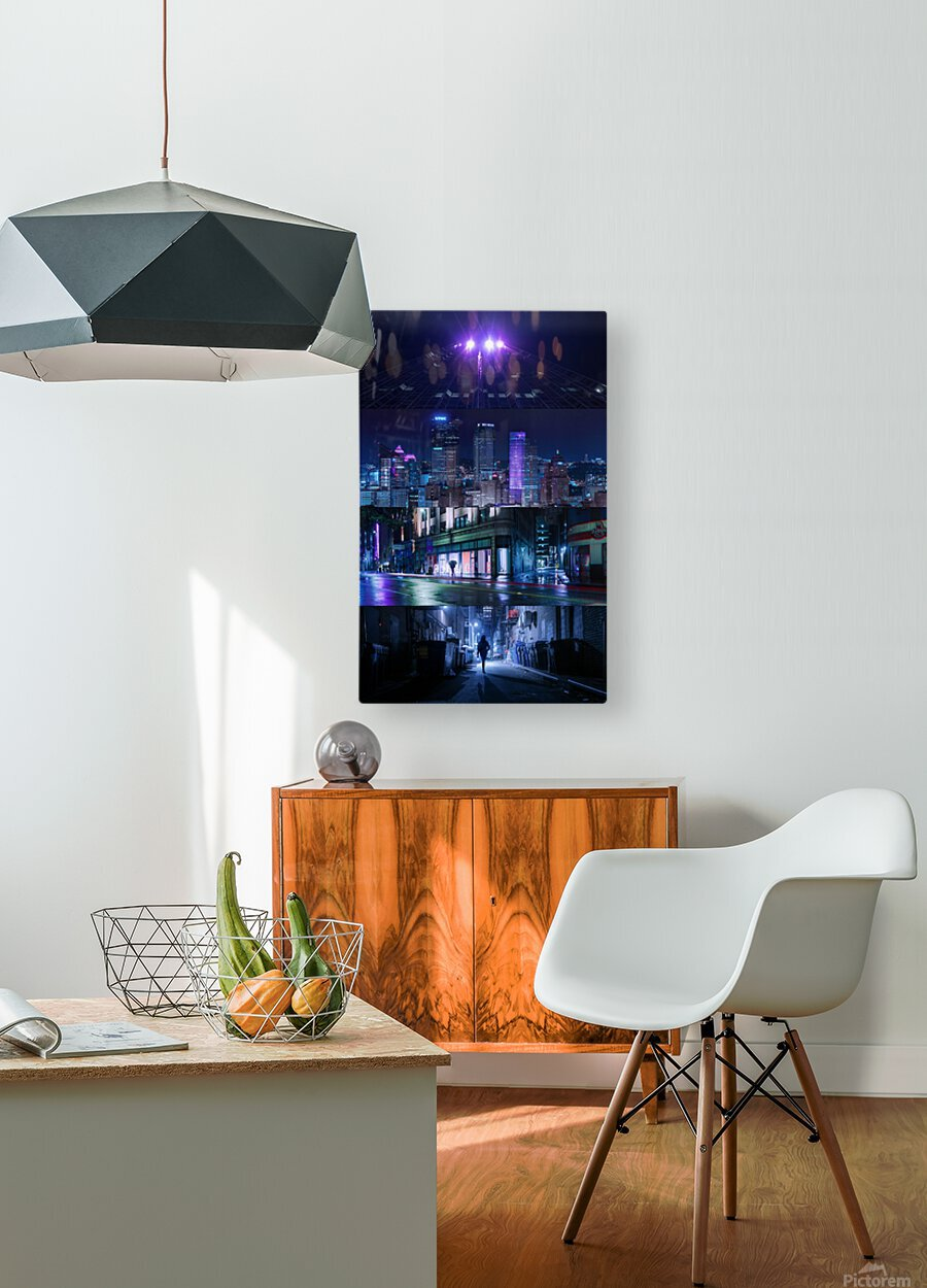 Arrival  HD Metal print with Floating Frame on Back