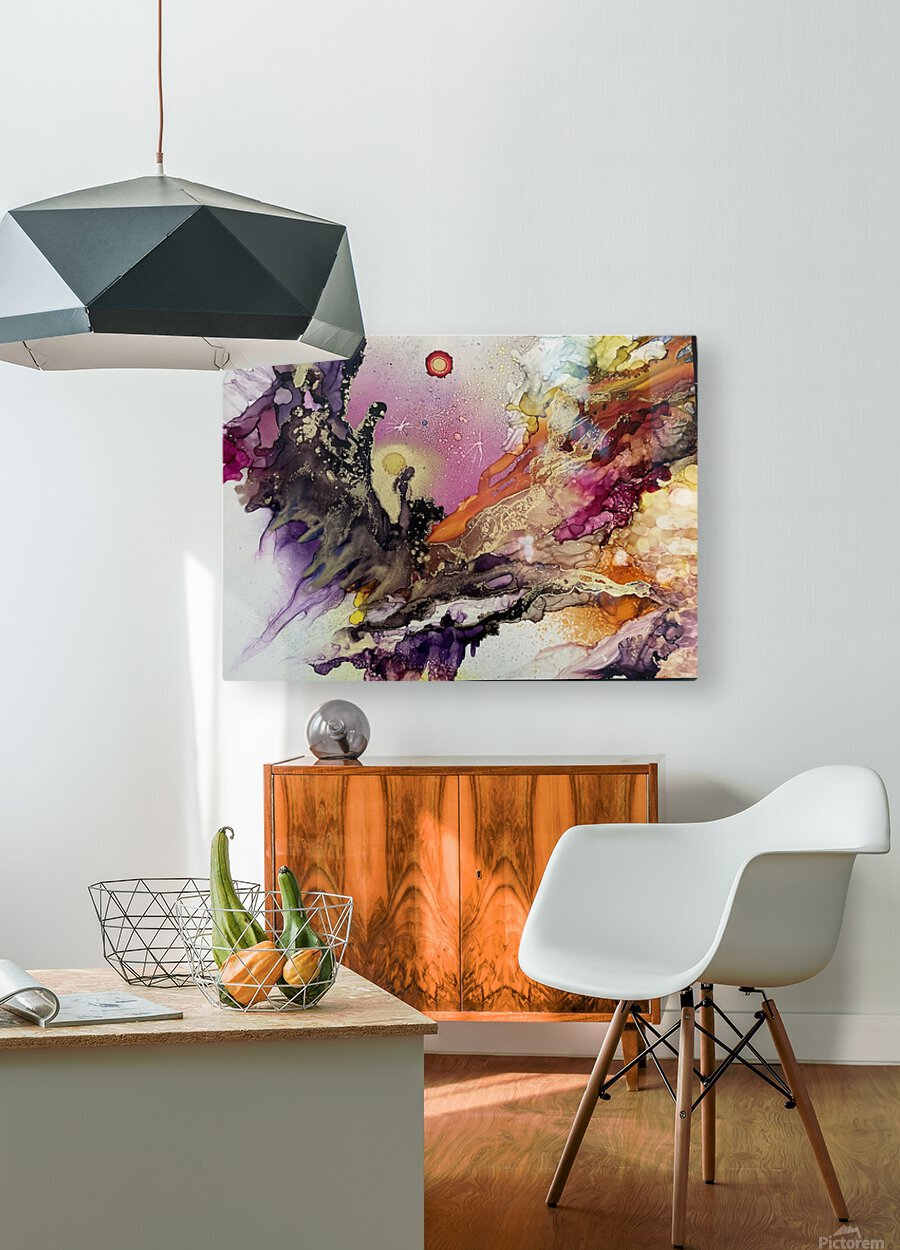 Galactic   HD Metal print with Floating Frame on Back