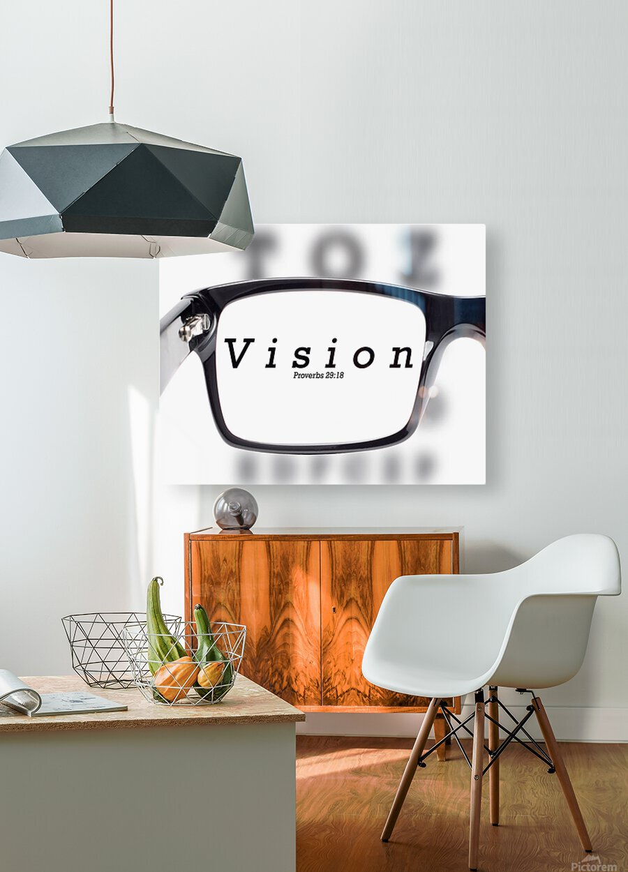 vision 2  HD Metal print with Floating Frame on Back