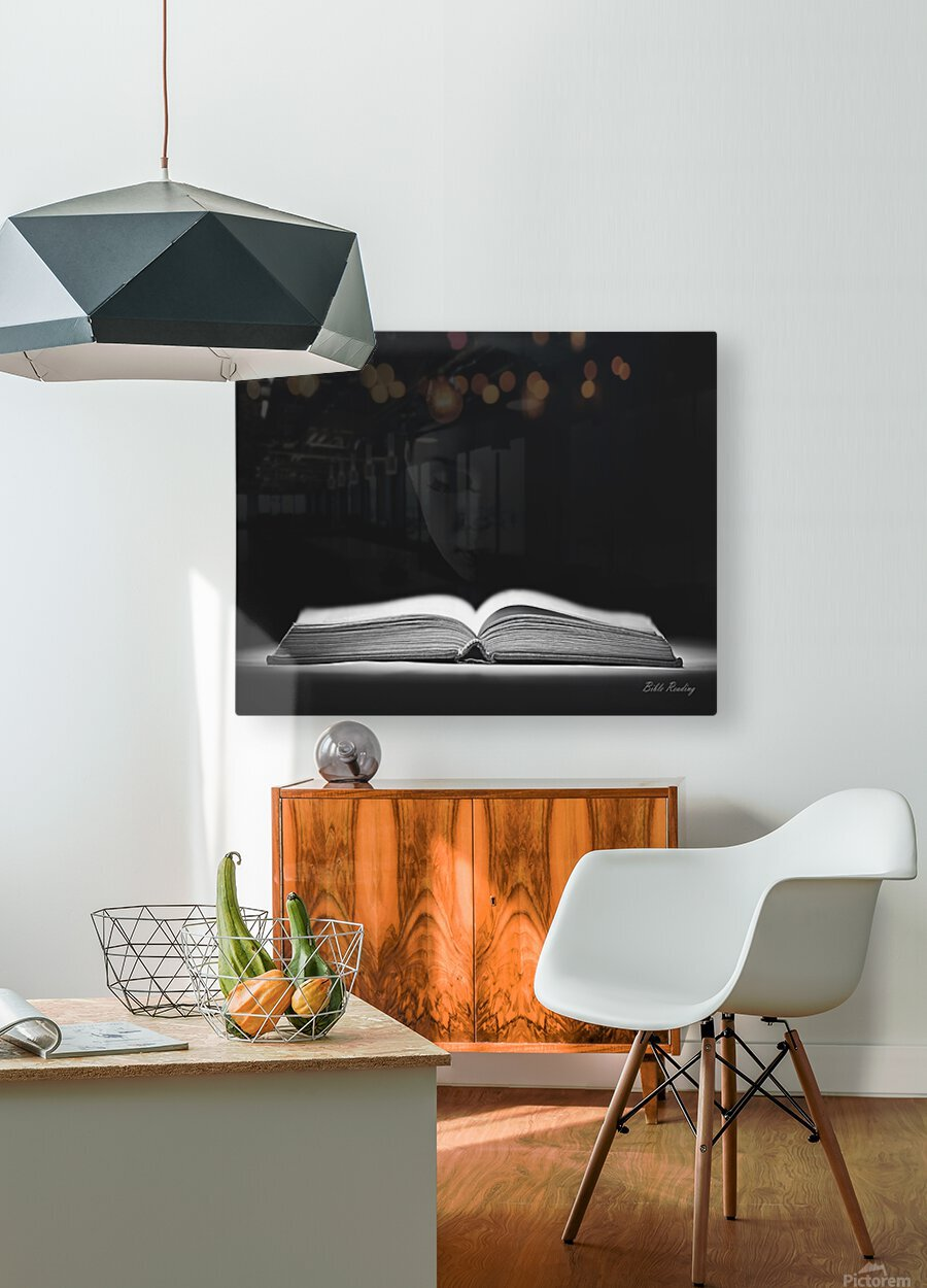 Bible Reading  HD Metal print with Floating Frame on Back
