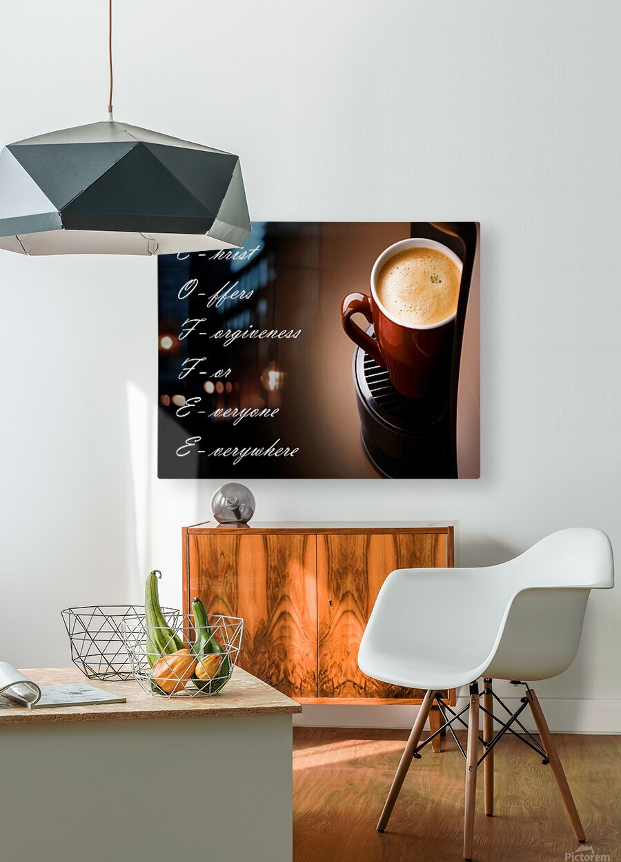 coffee  HD Metal print with Floating Frame on Back